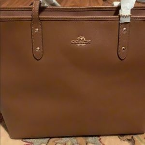Sable Brown Large Coach City Tote